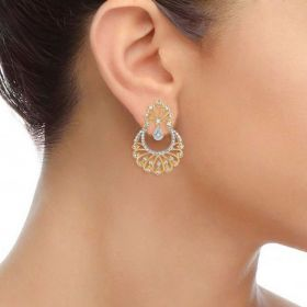 Majestic Pankh Diamond Chandbali Earring