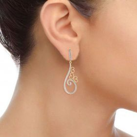 Wispy Cygnus Diamond Hangings Earrings