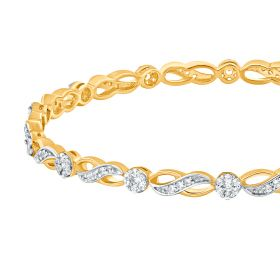Infinity Studded Diamond Bangle