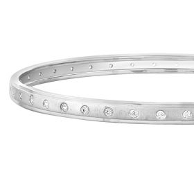 Classy Prismatic Diamond Bangle