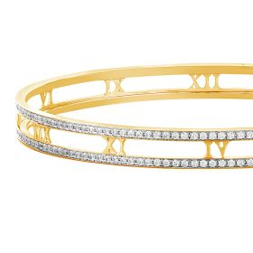 Roman Allure Diamond Bangle