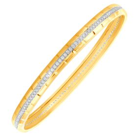 Broad and Bountiful Diamond Bangle