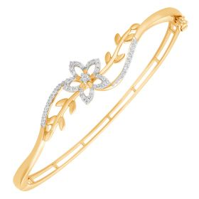 Floral Magic Diamond Bangles