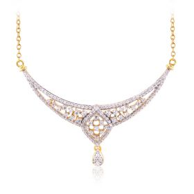 Latticed  Diamond Marquise Pendant