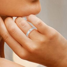 Crowned Solitaire Diamond Band Ring