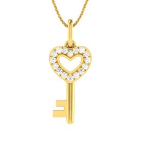 Sweetheart Key Diamond Pendant