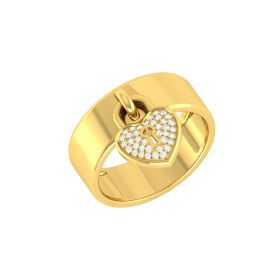 Tilte:Captive Love Diamond Ring