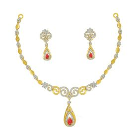 Stone Studded Cz Necklace set NS-2357