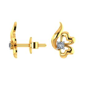 22k Together forever CZ Stud Earrings