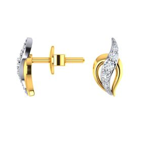 Flaming CZ Studs