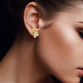 Alluring Flame CZ Studs
