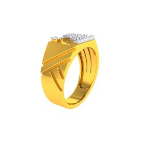 TwoTone CZ Gold Ring