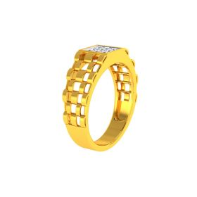 22K Men CZ Ring VGR703