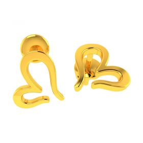 18KT Yellow Gold Kids Stud Earrings VKE-940