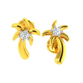18KT Yellow Gold Kids Studded Earrings VKE-945