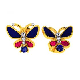 14KT Yellow Gold Kids Stud Earrings VKE-948