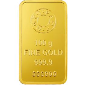 100 Gms 24 KT Gold Bar 999.9 Purity - Ignot