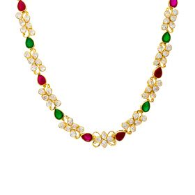 Lucid 22K Gold CZ Necklace