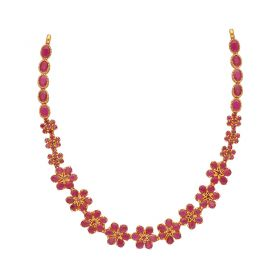 110MP3510 | 22kt Gold Ruby Necklace  110MP3510
