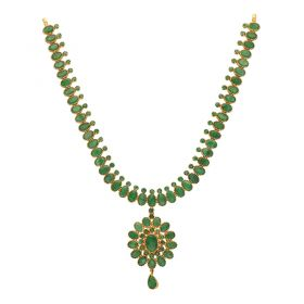 110VG4354 | 22kt Gold Emerald Necklace  110VG4354