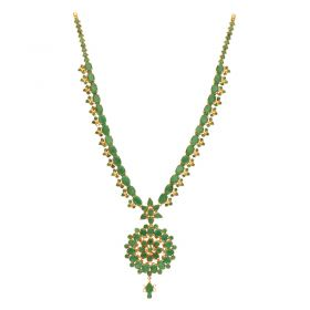 110VG4446 | 22kt Gold Emerald Necklace  110VG4446