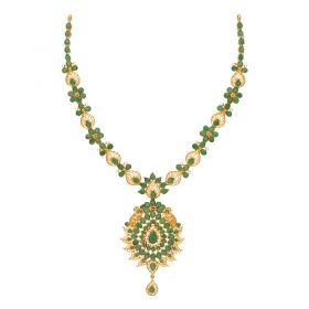 110VG4453 | 22kt Gold Gold Emerald Necklace  110VG4453