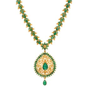 Emerald Floral Necklace
