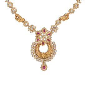 117G144 | Polki Skirted Antique Gold Necklace