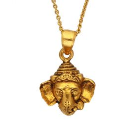 127VG3948 | Ganapathi Antique Gold Pendant  127VG3948