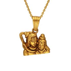 127VG4001 | Antique Lord Siva Parvathi Gold Pendant 127VG4001