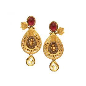 135VG4038 | 22kt Gold Antique Gold hangings 135VG4038