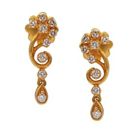 Swirly flower Diamond Earrings