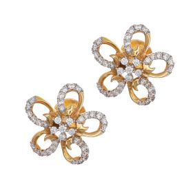 Alluring Flower Diamond Earrings