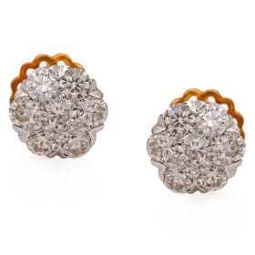Oval Orb Diamond Stud