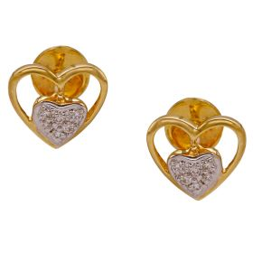Heart-to-Heart Diamond Studs