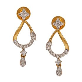 Sleek Mango Diamond Danglers
