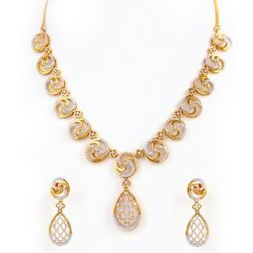 Versatile Teardrop Mesh Diamond Necklace