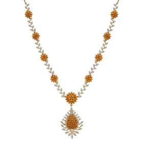 Flower Cluster Diamond Necklace