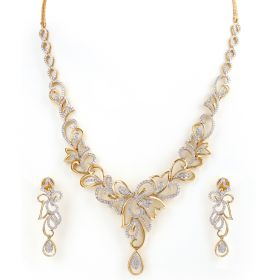 Enchanting Swirls Diamond Necklace