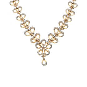159VG3212 | 18 KT Diamond Studded gold fancy necklace 159VG3212