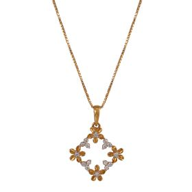 Four Floret Diamond Pendant