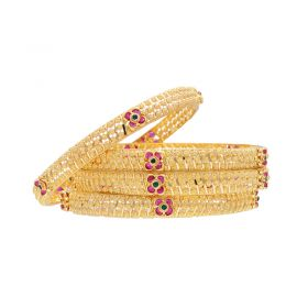 16VI6479 | 22K Self Designed Starry Bangles