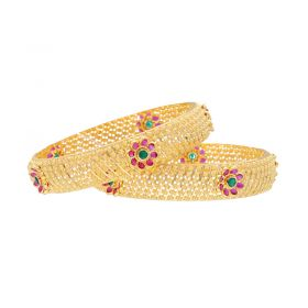 16VI9471 | 22K Broad Gold Bangle set