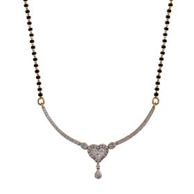 Heart Dangler Diamond Mangalsutra