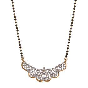 Golden Arc Diamond Mangalsutra