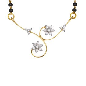 Entwined Flowers Diamond Mangalsutra