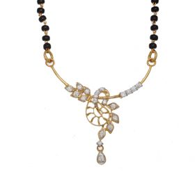Exquisite Leafy Diamond Mangalsutra