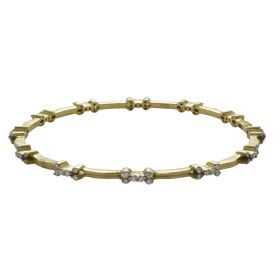 Ethnic Ornate Patterned Diamond Bangle