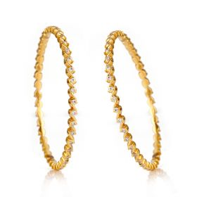Stylish S Diamond Bangles
