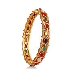 Anitique Navratna Diamond Bangle